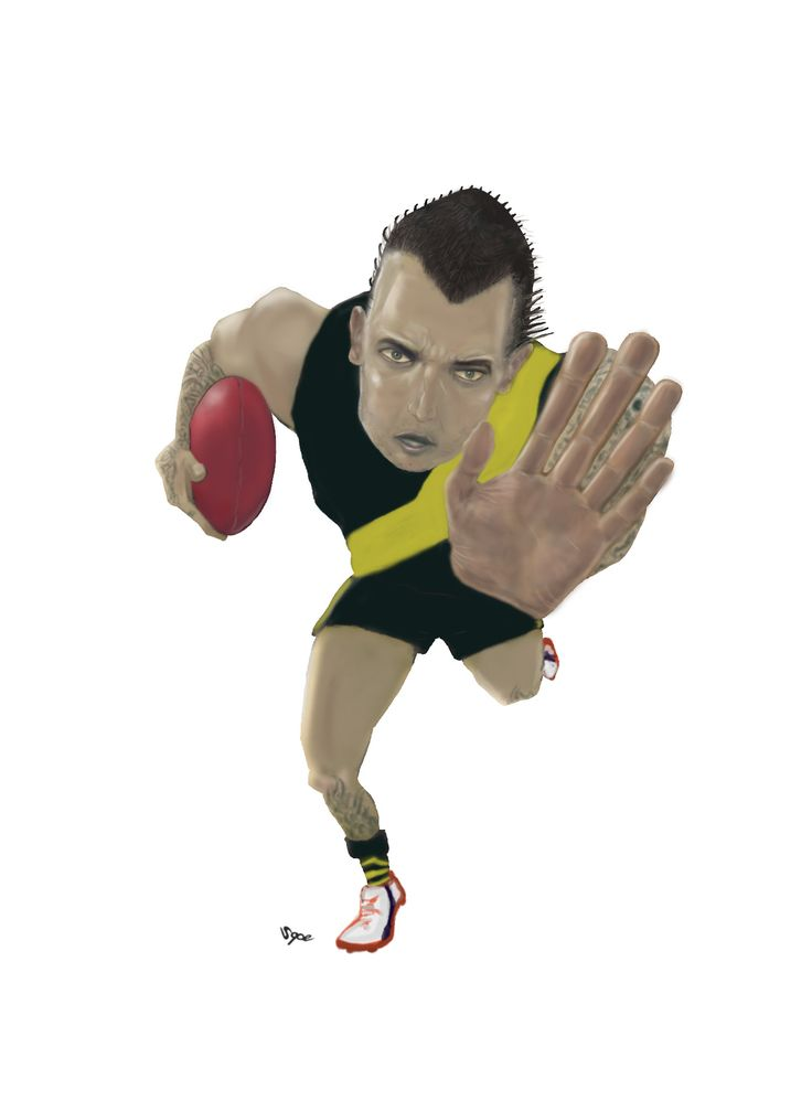 Commission for the Richmond Football Cheer Squad - Milestone (150 AFL Games) - Dustin Martin