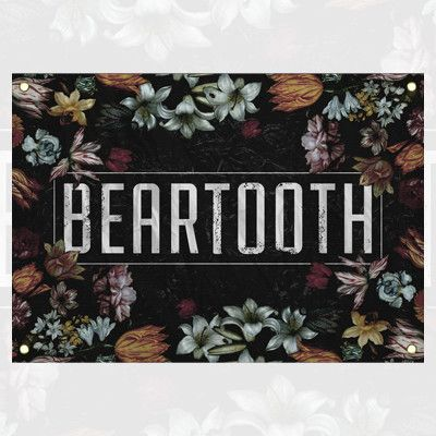Beartooth - Floral Wall Flag