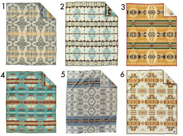 Pendelton Blankets (numbered)