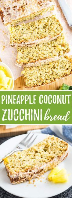 Zucchini Pineapple Bread with coconut and crushed pineapple makes a delicious tropical treat! This extra moist quick bread is a great way to use up all those zucchinis.