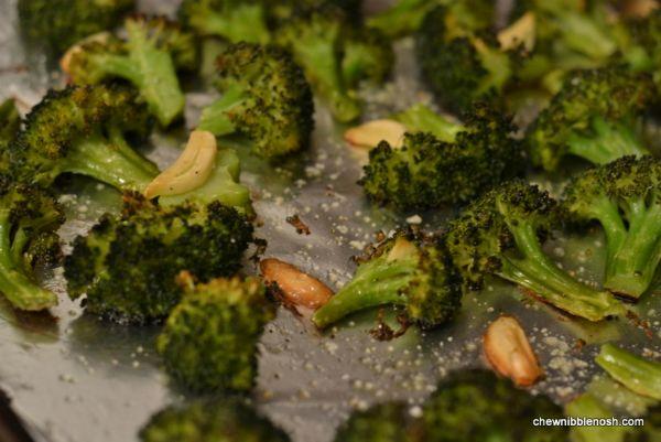 Roasted Broccoli with Lemon and Garlic 3 - Chew Nibble Nosh