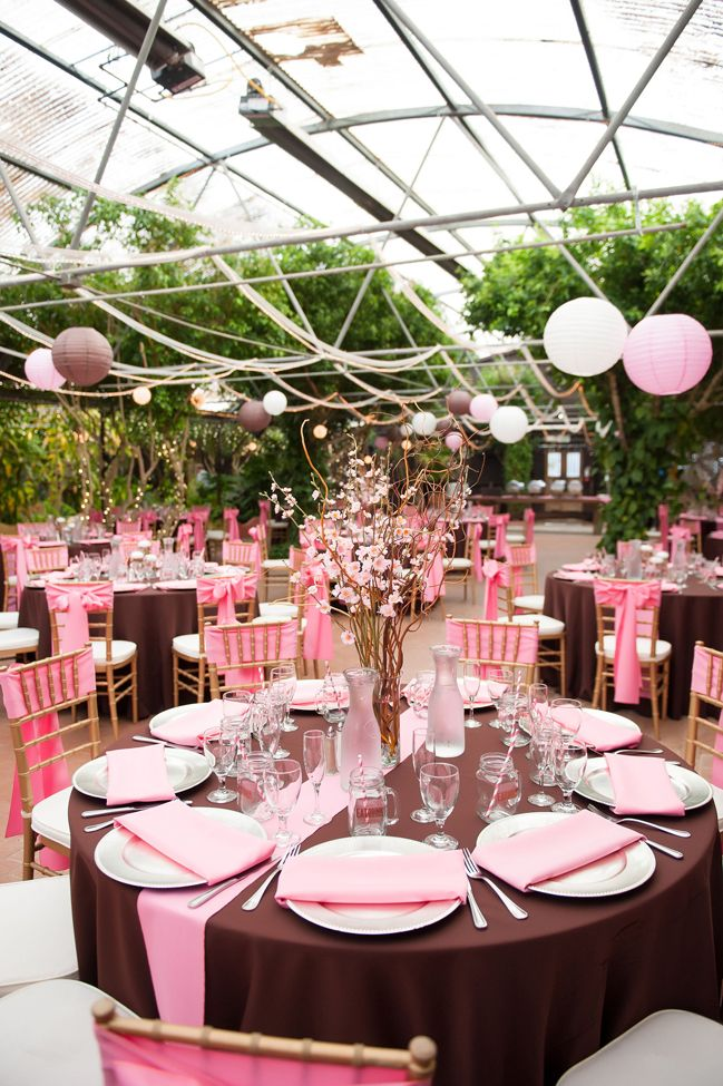 afternoon tewedding theme ideas%0A Pink and Brown Japanese Cherry Blossom Themed Wedding