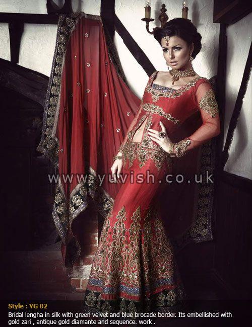 tradidtionalbridalwear#silk#redlengha#indianbride#pakistanibride#yuvish#designerwear