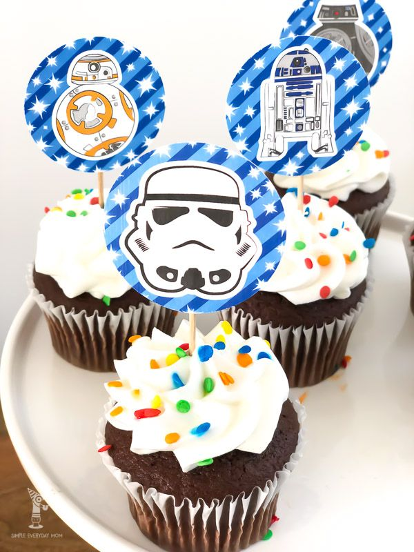 Outstanding Free Printable Star Wars Cupcake Toppers For Boys Girls With Personalised Birthday Cards Fashionlily Jamesorg