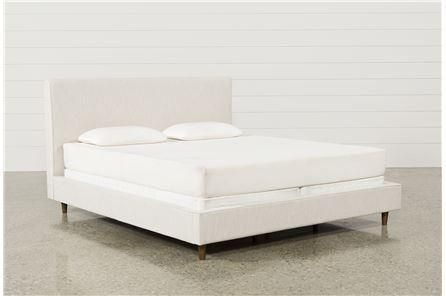 Dean Sand California King Upholstered Panel Bed - Signature