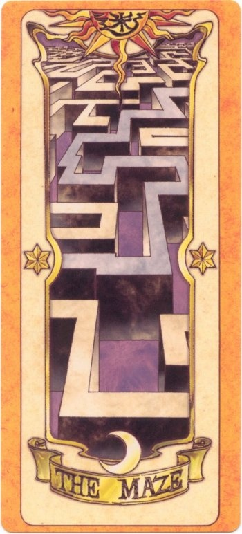 This is The Maze Clow Card from the Card Captor Sakura anime and manga series by CLAMP