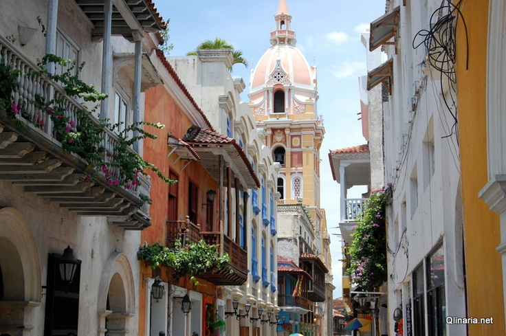 A street in Cartagena, Colombia