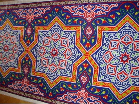 4m Traditional Egyptian Arabian Arabic Tent Fabric by YaSayidati