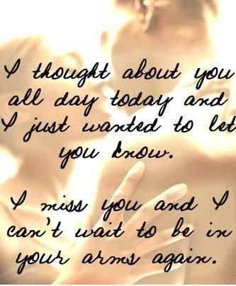 missing you quotes for him | telling him/her how much he/she means to you - how much you miss him ...