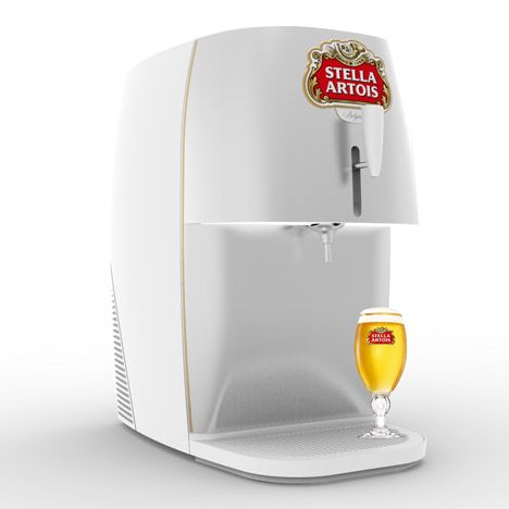 Marc Thorpe designs a mini draught beer dispenser for Stella Artois.