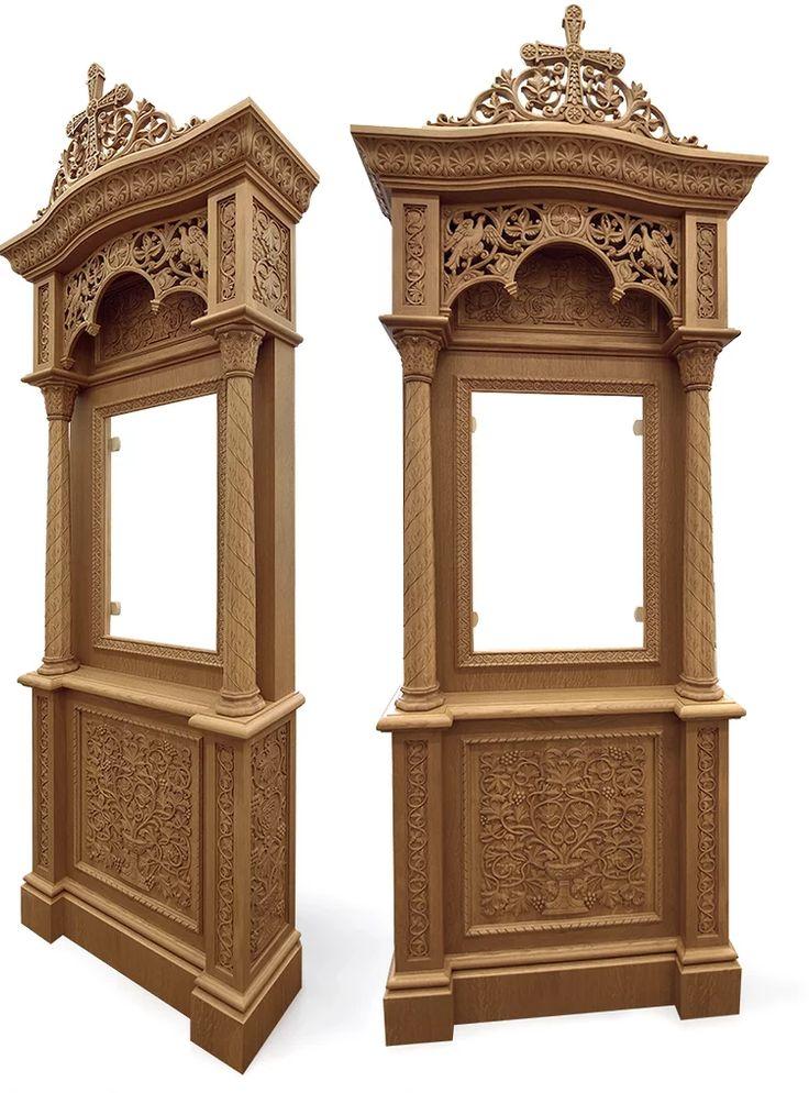 Храмовая мебель. Киот в византийском стиле. Акантус Ателье