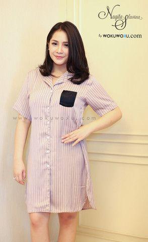 Fashion Stripes Pastel Pajamas by Nagita Slavina available now on www.wokuwoku.com