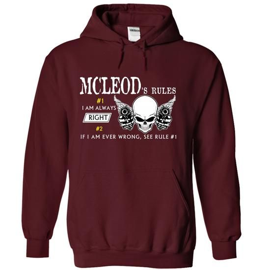 MCLEOD RULES Team - #tee shirt #wholesale sweatshirts. TRY => https://www.sunfrog.com/Valentines/MCLEOD-RULES-Team.html?60505