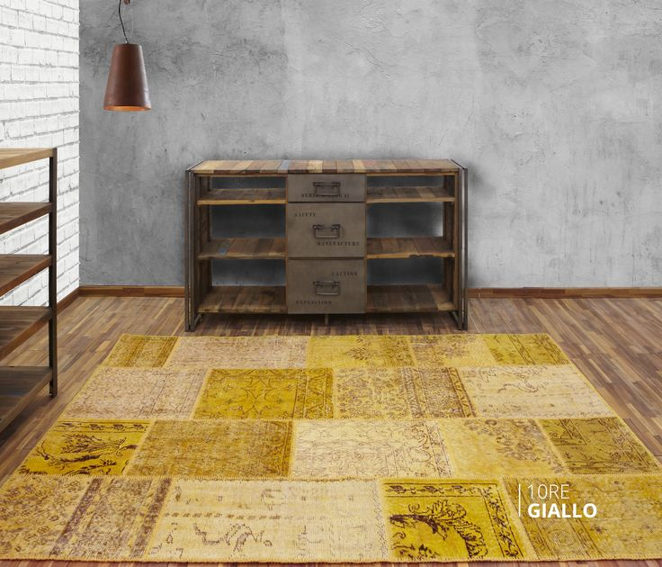 ALFOMBRA PATCHWORK 10RE GIALLO