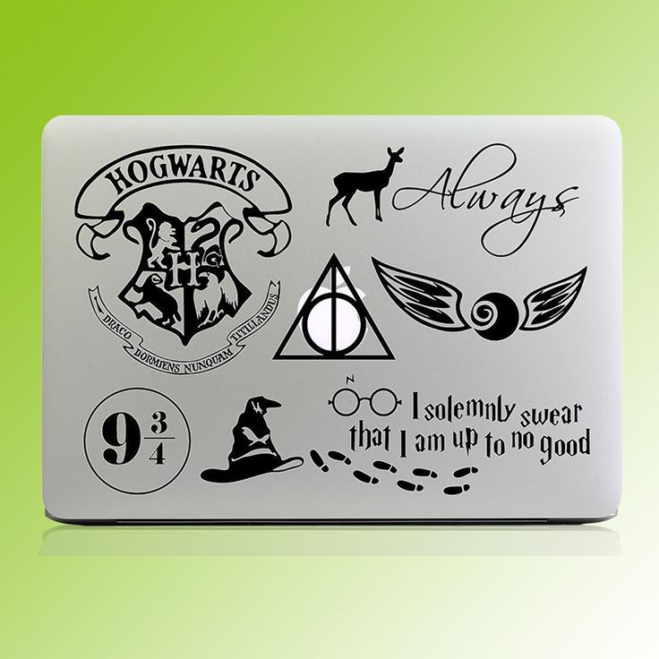Harry Potter Theme Decal Stickers for Laptops - free shipping worldwide