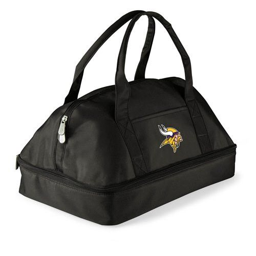 Minnesota Vikings Insulated Two-Tiered Potluck Casserole Tote - Black