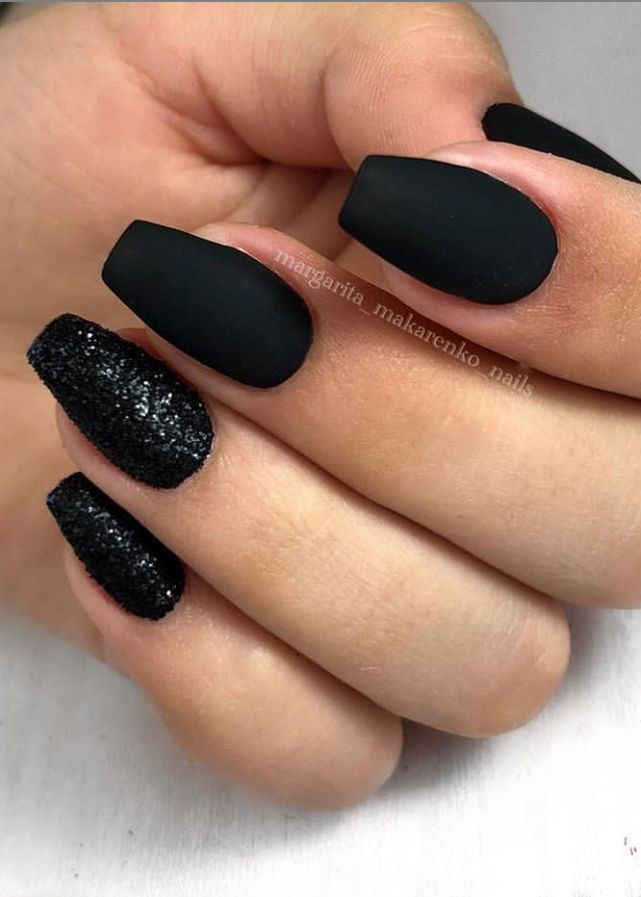 Shortnails Nails Square Summer Black Nails Black Nails