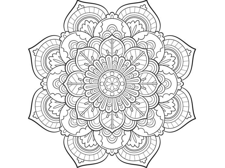 37 best Mandala Coloring Pages images on Pinterest | Mandala ...