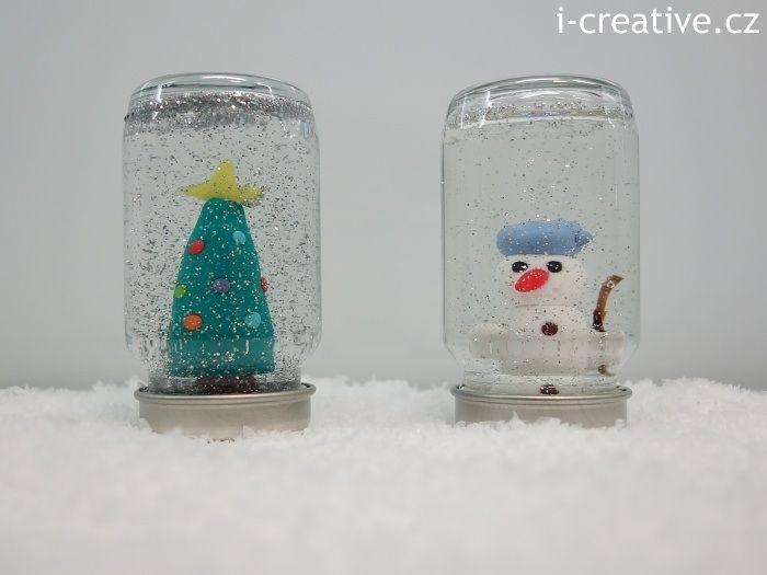 DIY snow globe. Návod jak vyrobit sněžítko.