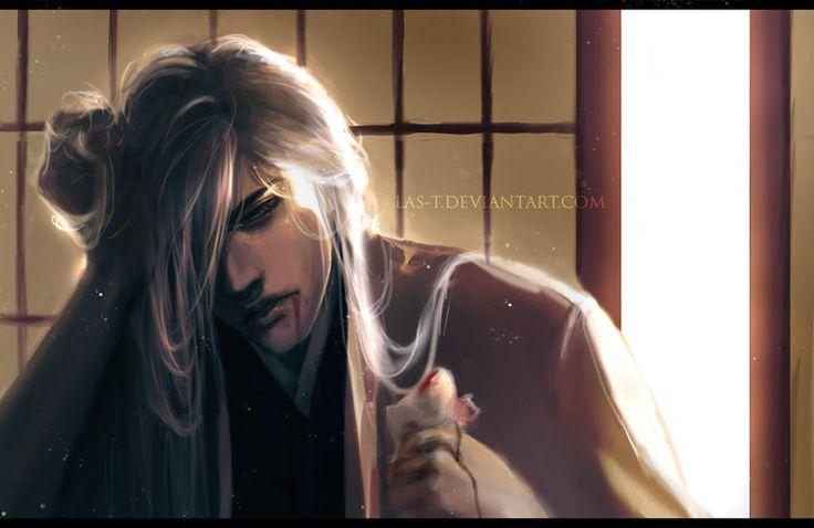 Bleach ~~ One of my favorite Captains :: Ukitake - Sickness by LAS-T.deviantart.com on @deviantART