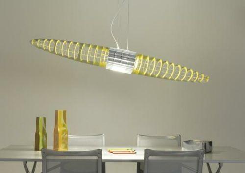 tipps für die beleuchtung lange hängelampe in neon gelb