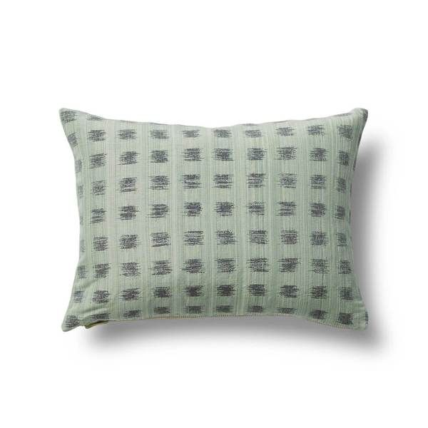 Gridded Ikat Pillow in Dennis Green from Rebecca Atwood – Rebecca Atwood Designs
