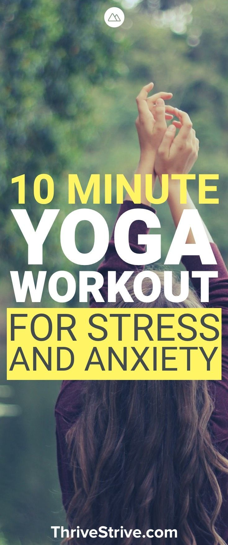 Yoga is great for stress and anxiety. In this 10-minute yoga workout you will le...