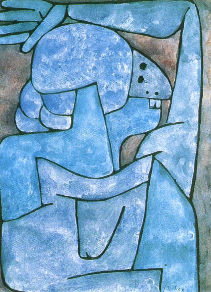 Paul Klee, Femme qui maudit, 1939.