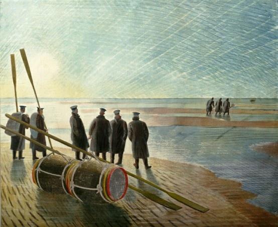 Sailors On The Beach - Eric Ravilious