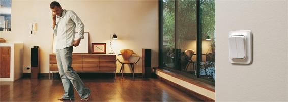 Trend från Schneider Electric är en klassisk serie strömbrytare som passar på alla väggar i hemmet.