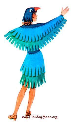 Сделать костюм птицы