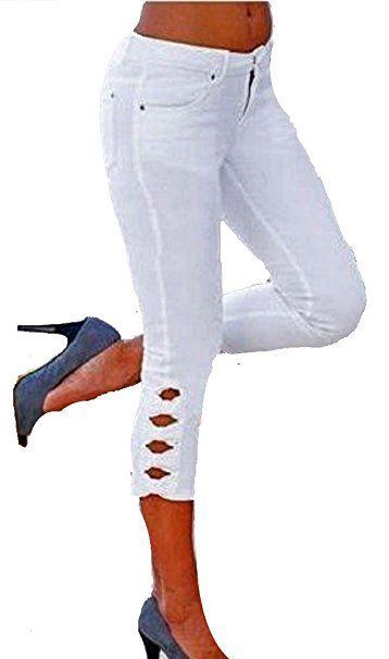 Hose Hosen Trends Versandhausware Sommerhosen Sommer Weiß Capri Ku31cTlFJ