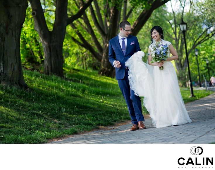 Photography by Calin - Bride and Groom Walk at Hart House Wedding:   Location: 7 Hart House Cir, Toronto, ON M5S 3H3.