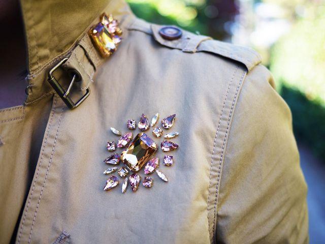 DIY Jeweled Trenchcoat from @HonestlyWTF