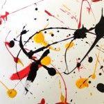 Dripping façon Pollock plein d idée de peinture pour les petiots
