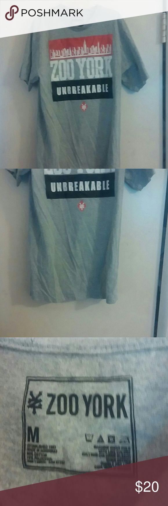 Zoo York Unbreakable Medium TeeShirt skateboarding Zoo York Medium Sized Gray Shirt. Zoo York Shirts Tees - Short Sleeve