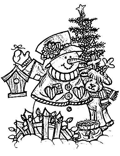 Snowman Coloring Pages Sheets Adult Books Colouring Painted Patterns Christmas Printables Crafts