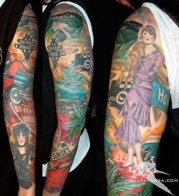 car sleeve tattoo | Holly Azzara - Fashion Sleeve