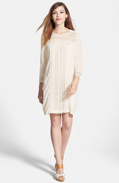 Max  Mia Lace Detail Shift Dress available at #Nordstrom