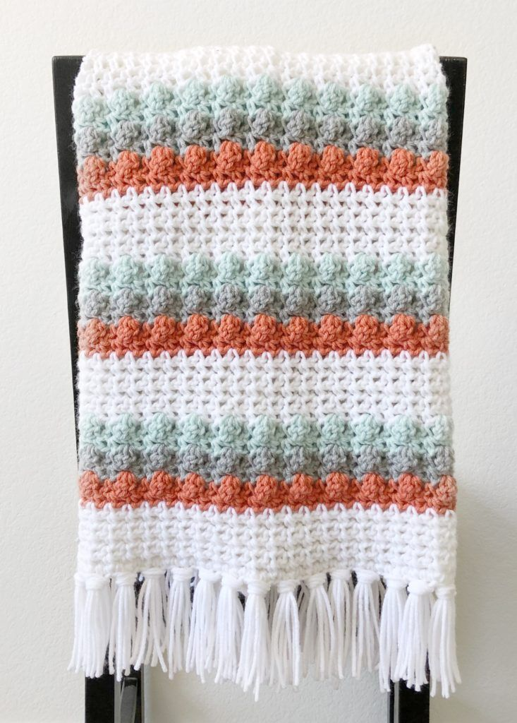 Crochet Mesh and Bobble Blanket | Daisy Farm Crafts Crochet ...