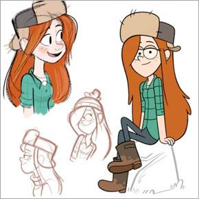 Character Designs de Gravity Falls, do Disney Channel
