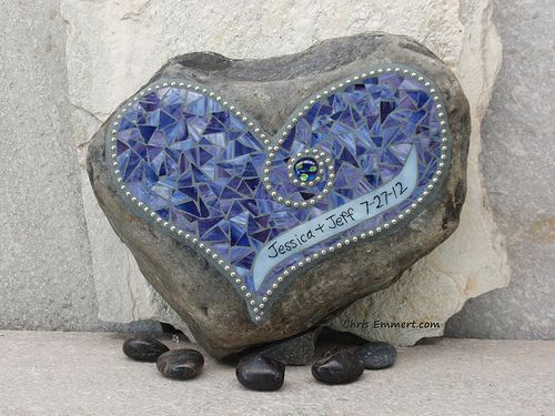Custom Mosaic Wedding Remembrance Heart by Chris Emmert, via Flickr