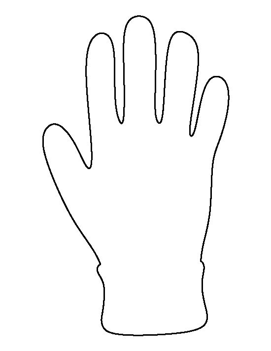 Glove pattern. Use the printable outline for crafts, creating stencils, scrapbooking, and more. Free PDF template to download and print at http://patternuniverse.com/download/glove-pattern/