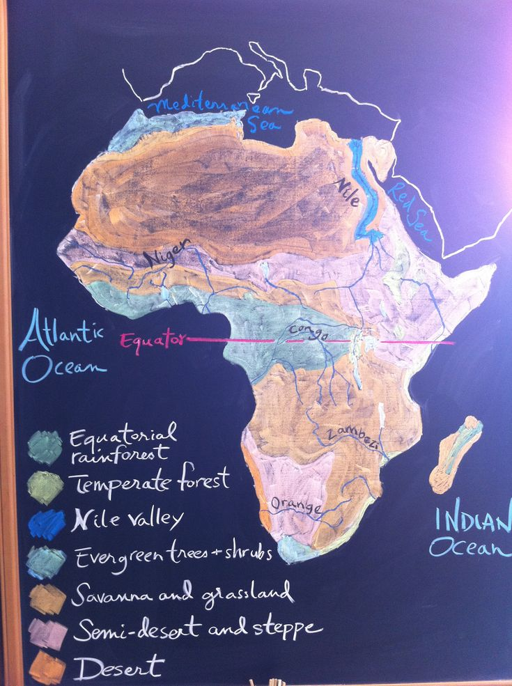 Africa Map Congo River%0A Chalk Drawings