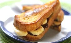 Yes, it's a Nutella and banana sandwich fried in butter. It's naughty, but we're allowed an occasional treat sometimes. Just make sure you go for a jog aft