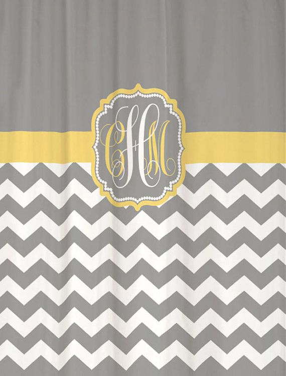 Tj Maxx Shower Curtains Yellow and Grey Chevron Frame