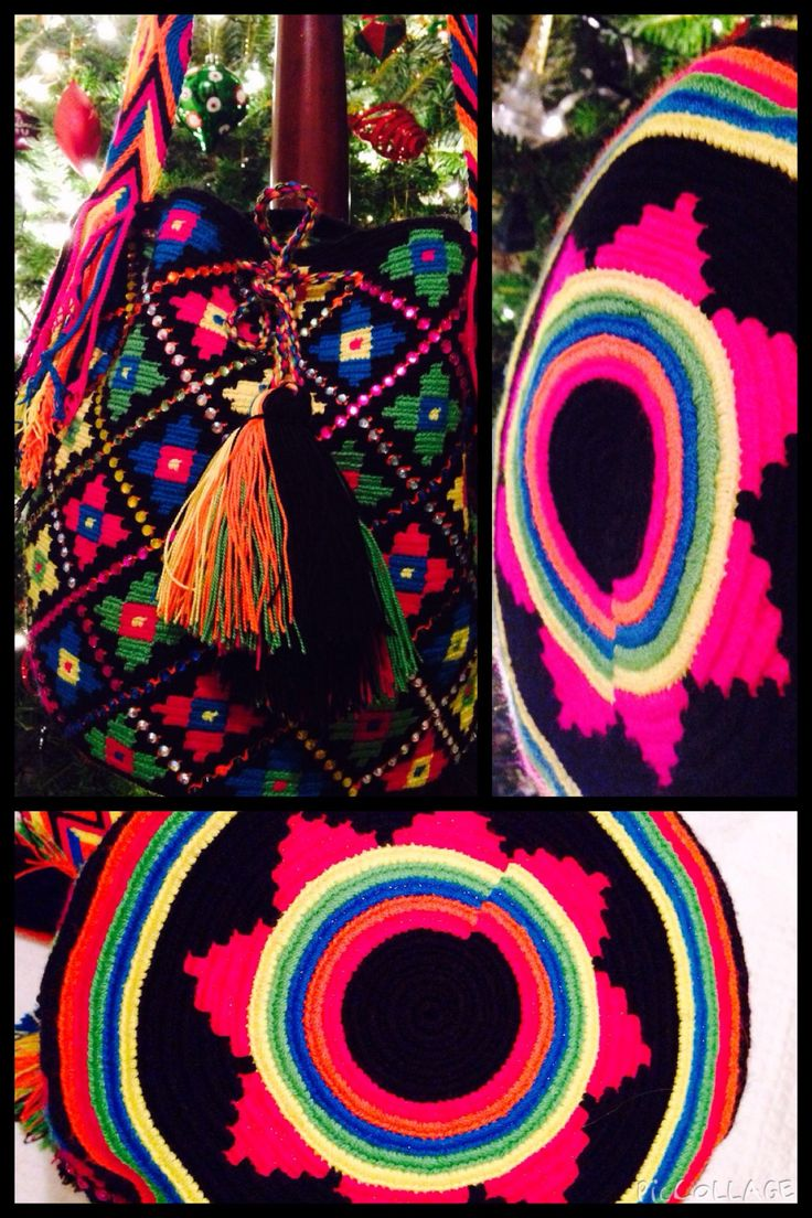 Nuestro bolso Wayuu Arcoiris (Kasipoluin) para estas Navidades./ Our Wayuu rainbow (Kasipoluin) bag for this X-Mas. tumawayuu@gmail.com
