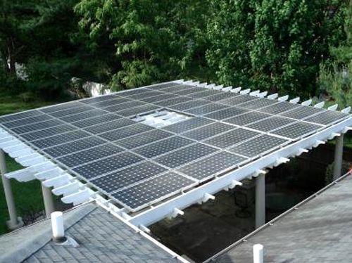 Solar panels as pergola cover?: Gardens Ideas,  Solar Collector, Pergolas Design, High Technology, Technology Pergolas Solar,  Solar Furnac, Pergolas Roof, Pergolas Covers, Pergolas Ideas