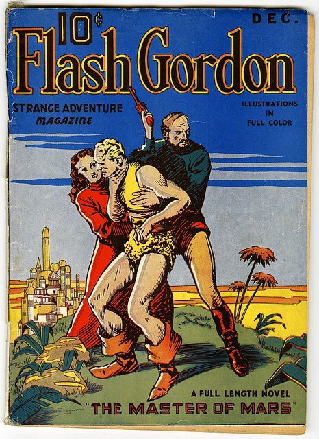 """Flash Gordon Strange Adventure Magazine Dec (CJH Publications, 1936) """"The Master of Mars."""" Features a cover and eight full-page color interior illustrations by Fred Meagher. by Morbius19, via Flickr"""