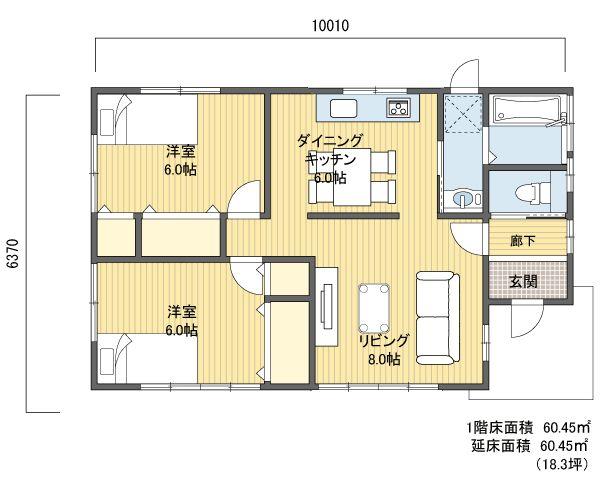 間取り 1階建 平屋 10 20坪 南玄関 間取り アパートのデザイン マンション リノベーション